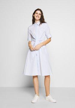 Lauren Ralph Lauren - BROADCLOTH DRESS - Blusenkleid - blue/white