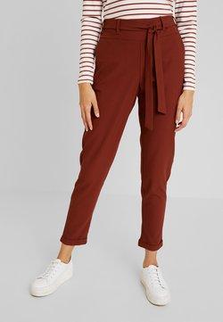 Kaffe - JILLIAN BELT PANT - Spodnie materiałowe - cherry mahogany