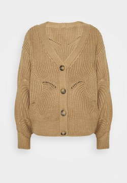 Pieces - PCBENITA CARDIGAN - Gilet - natural