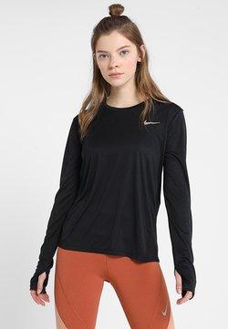 Nike Performance - MILER - T-shirt de sport - black/reflective silver