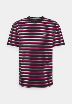 Tommy Jeans - TWO TONE STRIPE CLASSIC TEE - T-Shirt print - pink