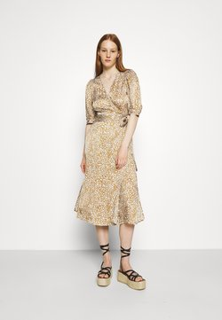 Second Female - GRANADA WRAP DRESS - Maxikleid - bronze brown