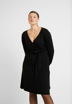 Kaffe Curve - PINA WRAP DRESS - Jerseykjoler - black deep
