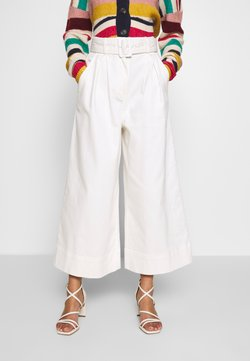 Who What Wear - THE WIDE LEG PANT - Stoffhose - warm white