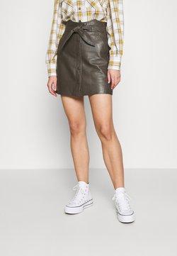 YAS - YASRURA SKIRT - Mini skirt - black olive