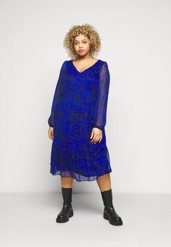 Evans - ANIMAL DRESS - Freizeitkleid - blue
