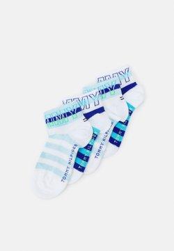 Tommy Hilfiger - KIDS QUARTER WORDING 4 PACK UNISEX - Calze - blue combo