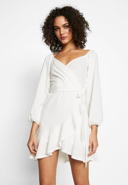 Nly by Nelly - LOVLEY FRILL DRESS - Cocktailklänning - white