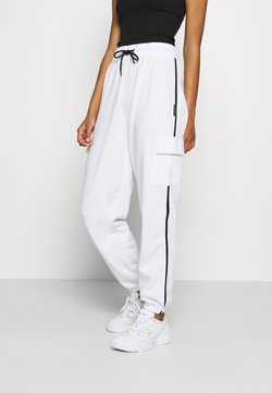 Missguided - CONTRAST PIPING - Jogginghose - white