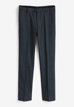 Next - SLIM FIT  - Spodnie garniturowe - blue