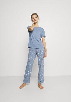 Marks & Spencer London - OWL - Pyjama - blue mix