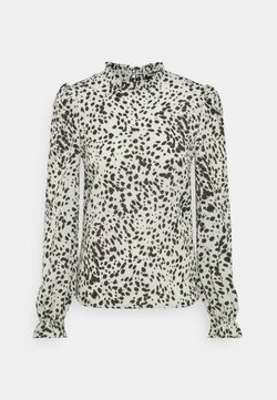 Missguided Tall - ANIMAL FRILL NECK BLOUSE - Bluse - mint