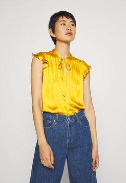 Banana Republic - FLUTTER SLEEVE TIE NECK SOLIDS - Bluse - golden yellow