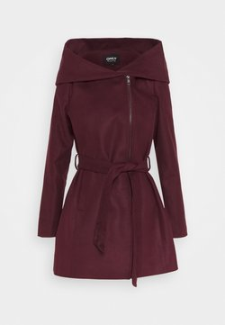 ONLY - ONLCANE COAT - Kurzmantel - bordeaux