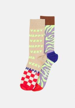 Happy Socks - TIGER RAVE 2 PACK UNISEX - Socken - multi
