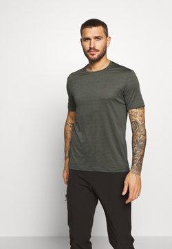 Salomon - TEE - T-Shirt basic - olive night/heather