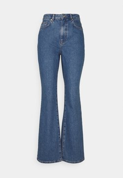 NA-KD - Jeans bootcut - mid blue