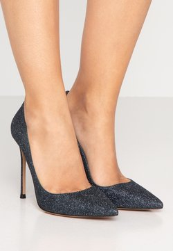 Pura Lopez - High Heel Pumps - navy glitter