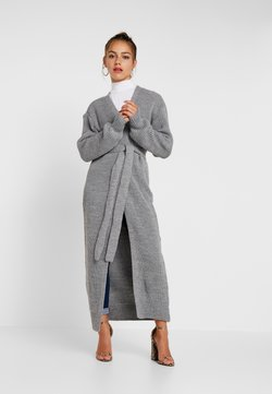 Missguided Petite - MAXI BELTED CARDIGAN - Gilet - grey