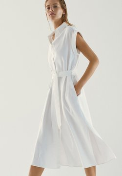 Massimo Dutti - Sukienka koszulowa - white