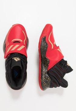 adidas Performance - DEEP THREAT CLOUDFOAM BASKETBALL SHOES - Basketball shoes - scarlet/gold metallic/core black