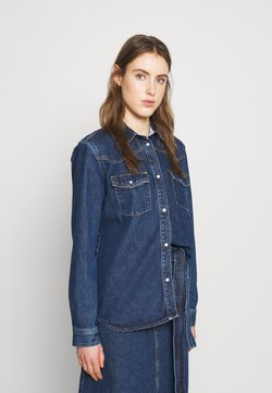 Won Hundred - PERNILLA - Button-down blouse - rinse blue