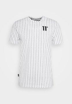 11 DEGREES - VERTICAL STRIPE  - T-Shirt print - white/black