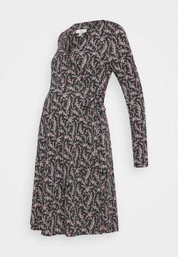 Ripe - BLOSSOM WRAP DRESS - Robe en jersey - black