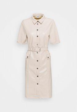 Noisy May Tall - NMDUST SHIRT DRESS - Robe fourreau - taupe gray