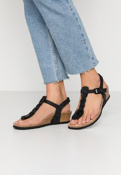 Papillio - ASHLEY - Keilsandalette - black