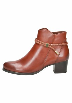 Caprice - STIEFELETTE - Ankle Boot - cognac comb