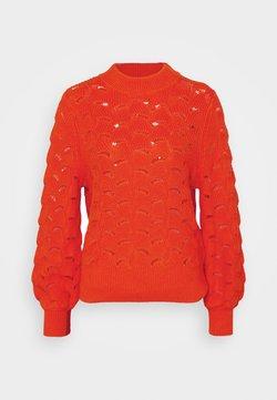 Selected Femme - SLFEVALINE  O NECK - Trui - orange