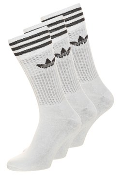 adidas Originals - SOLID CREW UNISEX 3 PACK - Socken - white/black