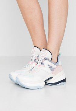 MICHAEL Michael Kors - OLYMPIA TRAINER - Sneakersy niskie - cream/multicolor