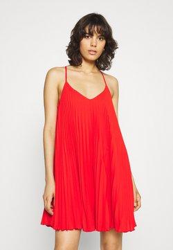 River Island - PLEATED SLIP DRESS - Cocktailkleid/festliches Kleid - red