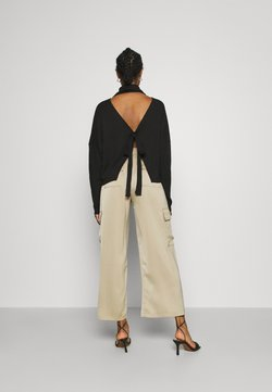 Nly by Nelly - OPEN BACK KNOT - Sweter - black