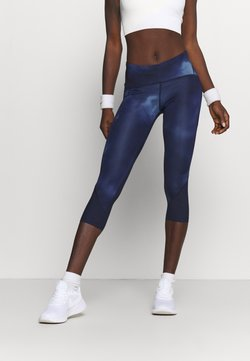 Under Armour - FLY FAST HEATGEAR CROP - Medias - midnight navy