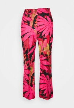 J.CREW - PRINTED ANDERSON PANT GRASSCLOTH - Stoffhose - pink/red