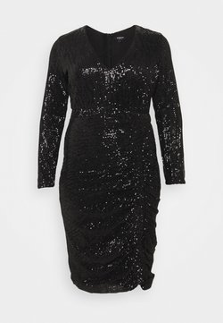 Simply Be - STRETCH SEQUIN BODYCON DRESS - Cocktailkleid/festliches Kleid - black