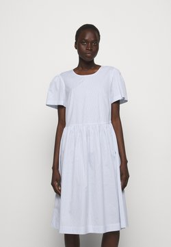 DESIGNERS REMIX - UMBRIA DRESS - Freizeitkleid - cream/blue
