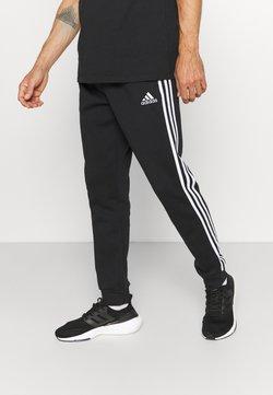 adidas Performance - 3 STRIPES  ESSENTIALS - Jogginghose - black/white