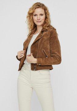 Vero Moda - Veste en cuir - tobacco brown