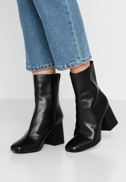 Even&Odd - LEATHER BOOTIE - Botki - black
