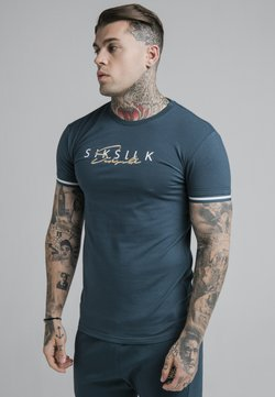 SIKSILK - SIGNATURE TEE - T-shirt print - ocean green