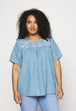Zizzi - XANNALU - T-Shirt print - light blue denim