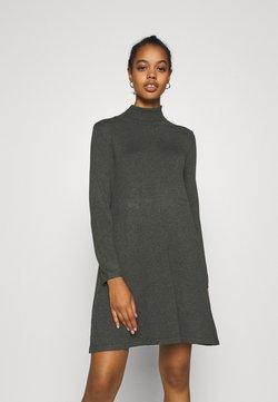 Vero Moda - VMGLORY LS ROLLNECK DRESS COLOR - Neulemekko - dark grey melange