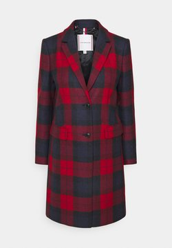 Tommy Hilfiger - BLEND CHECK CLASSIC COAT - Wollmantel/klassischer Mantel - primary red