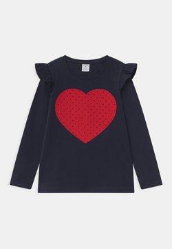 Lindex - MINI HEART NAVY - Long sleeved top - navy