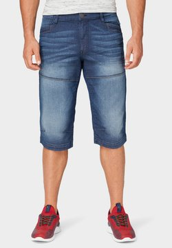 TOM TAILOR - MAX BERMUDA  - Jeans Shorts - mid stone wash denim