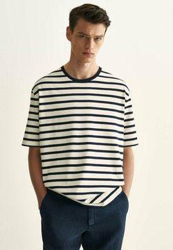 Massimo Dutti - T-Shirt print - blue-black denim
